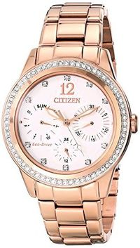 Citizen FD2013-50A Eco-Drive Dress Stainless Steel - Rose-Gold Womens watch # #Citizen
