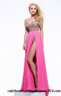 Pink Beaded Sherri Hill 1575 Overskirt Prom Dresses