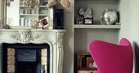 I love the gray and magenta, and the ornate combined with modern, clean lines.