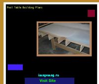 pool table building plans