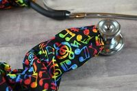 Stethoscope Cover Music Notes | Stethoscope Cord Cover | Nurse Gift | Doctor Gift | Stethoscope Sock | Stethoscope Accessories | $10.99