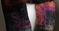 Beginner pattern for a pretty, warm scarf. Written pattern instructions with crochet charts/diagrams.