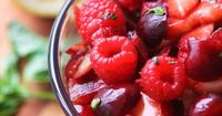Red FruitSalad for those who do not want to consume sugar. Berries have less natural sugars than other fruits. Some will eat ice cream or ice cream and cake, or pie on the fourth of July, I will enjoy berries! Having a choice is good