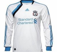 Liverpool 3rd Shirt Adidas 2011-12 Liverpool Adidas 3rd Long Sleeve Shirt Brand new official Liverpool Long Sleeve 3rd football shirt for the 2011/12 Premiership season available to buy in adult sizes S M L XL XXL XXXL. this is the brand new Liverpool T...