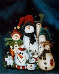 Snowman Collection - have this print on a greeting card I received - love it!