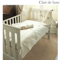 Clair de Lune Gilly and Gerry - 5 Piece Bedding Bale Product Information To fit cot/cotbed. Beautifully presented in a gift pack this bedding bale consists of quilt bumper fleece blanket 1 flannelette cotton flat sheet and 1 cotton jersey fitted sheet. ht...