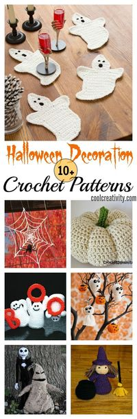 Stand out from the crowd this year with this collection of Halloween Decoration Crochet Patterns which can get your decorating off to a fabulous jumpstart!