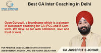 Gyan Gurucull is one of the Best CA Inter Coaching in Delhi. Our teachers are highly qualified and experience where CA JS Johar who is an excellent teacher and real pool of knowledge. You can reach us to get success in your exams.