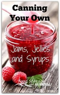 Can your own jams, jellies, and syrups! Includes info on freezer jams, cooked jams, juicing for jelly, and more! Food Storage and Survival Radio
