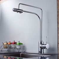 Contemporary Solid Brass Water Purifier Kitchen Faucet