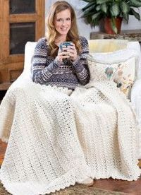 "Wrap yourself up in this cozy Snow Bunny Crochet Blanket Pattern throw after a day spent outside in the snow. This <a href=""https://www.allfreecrochetafghanpatt"