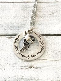 Urn necklace - Hand stamped necklace - Loss $59.00
