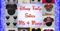Disney Shirts Mickey Minnie Mouse Family Vacation Clothes or Cruise Shirt -