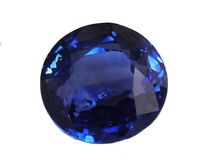 Round Blue Sapphire 9mm Gemstone Certified by GIA 5.32 carat Round Brilliant cut Genuine Sapphire for Gemstone Collectors or Christmas Gift $11420.00