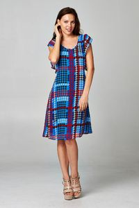 Women's Printed Chiffon Houndstooth Dress $26.12