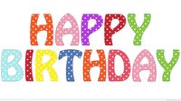 Simple Happy Birthday colorful png