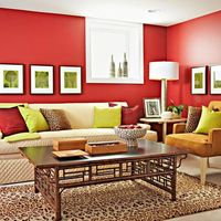 Create a designer color palette starring red, yellow, and orange hues from the warm side of the color wheel.