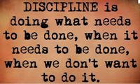 Discipline is doing what needs to be done, when it needs to be done, when we don't want to do it #wisewords