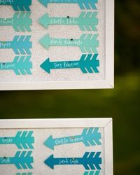 Miss Emily, what do you think about little guitar cut outs? Maybe similar in size to these adorable arrow escort cards?