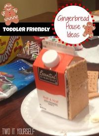 Easy #Gingerbread House Idea for Toddler and Kids #gingerbreadhouse