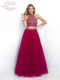 Blush Pink 5501 Beaded Two Piece Prom Ball Gowns 2016