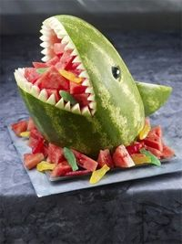 Shark Fruit bowl... if I was really ambitious! ;P#repost By:Pinterest++ for iPad#