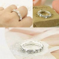 Price: $15.62 | Product: Korean Bright Silver Plated Elastic Cubic Zirconia Rings | Visit our online store https://ladiesgents.ca