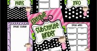THIS IS SERIOUSLY AMAZING. Editable Substitute Binder: Black polka dots with accent colors. FREE Think * Share * Teach