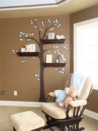 A little off the beaten path: beautifully bookish interior design for baby's room.