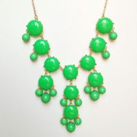 **Limited Time Fall Sale*** Apple Green Bubble Necklace