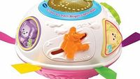 VTech Crawl n Learn Bright Lights Pink Ball Built-in motor activates to make the ball roll around and around. promoting crawling. Twist. slide and spin the manipulative features and press the chunky buttons to hear fun music and animal sound ef http://www...