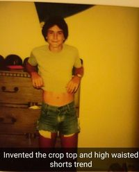 Male crop top from the 80s