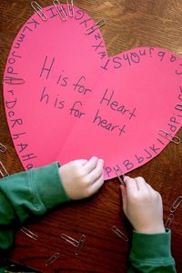 FIND THE LETTER ON THE HEART A letter activity that doubles for fine motor!