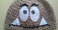 Super Mario Goomba Crocheted Hat. via Etsy.