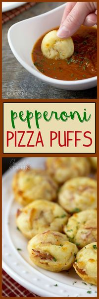 Who doesn't love pizza? Especially in bite size portions, we all know everything is better in miniature form. These pizza puffs are quick, easy & delicious!
