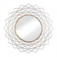 Golden Geometric Wall Mirror by Decorshop $44.95