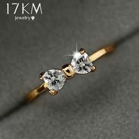 Crystal rings Gold Color finger Bow ring $7.99