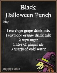 Black Halloween Punch Recipe!! This Punch Will Be The Hit Of the Party!!