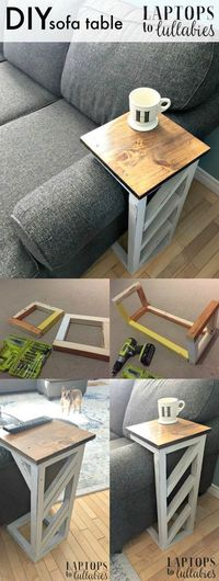 DIY Life Hacks & Crafts : DIY Life Hacks & Crafts : Laptops to Lullabies: Easy DIY sofa tables