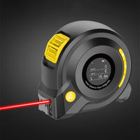 HC40 40M+5M Hand-held Backlit Display Laser Range Finder with High Precision Measuring Instrument Laser Tape Measure with Voice Broadcast and Circular Arc Measurement Function Laser Distance Meter