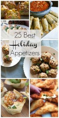 25 Best Holiday Appetizers  
