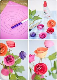 DIY ~ So Simple & Crafty Paper Flowers ~ cute