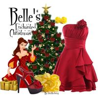 Oh, that dress <3 Belle's Enchanted Christmas