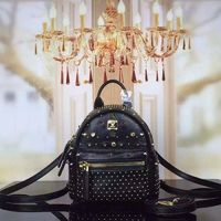 MCM X-Mini Stark Special Crystal Studded Backpack In Black