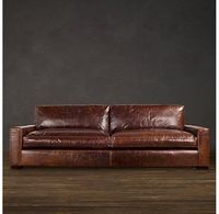 RH 7' Maxwell Leather Sofa