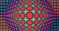 Op art | victor vasarely plastolux op art design graphic