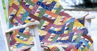 """Baby Rails"" by Ramona Williams (from The Quilter special Scrap Quilt Favorites issue)"