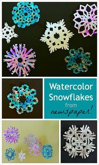 Cut Out Snowflakes from Newspaper from Buggy and Buddy
