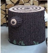 INSPIRATION~ Transform your child's room into a magical forest with a crocheted seat/ottoman / tree stump.