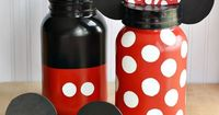 DIY Mickey Mouse & Minnie Mouse Mason Jar Money Banks for Your Next Disney World Vacation   Food Family & Finds